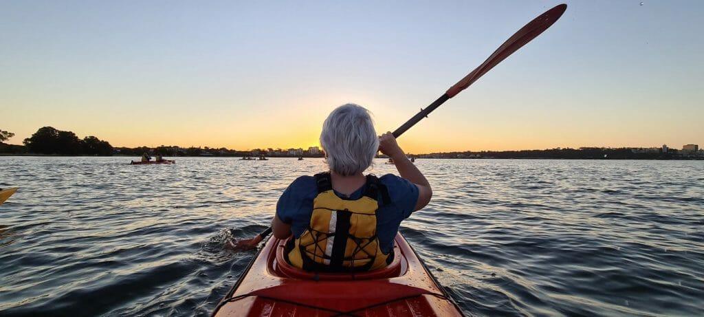 sunset kayak swan river