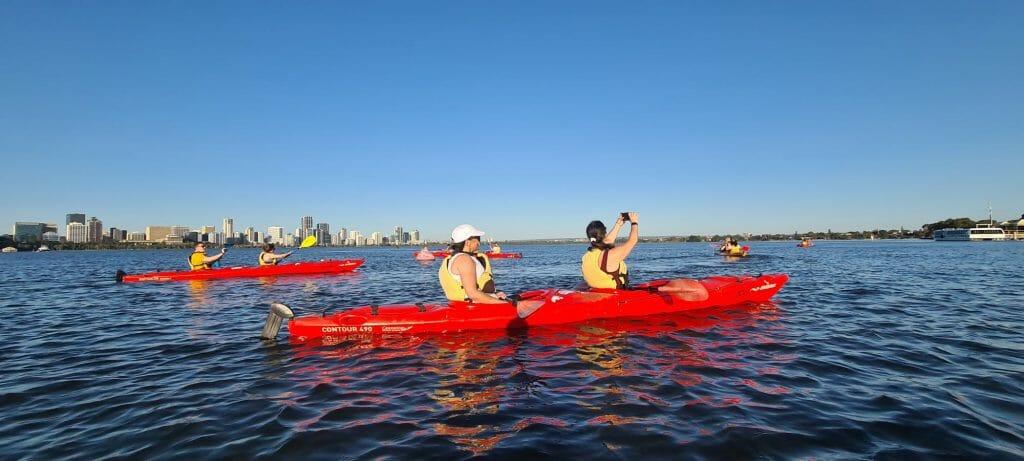 sunset kayak swan river 2