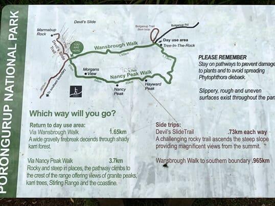 Nancys Peak Map