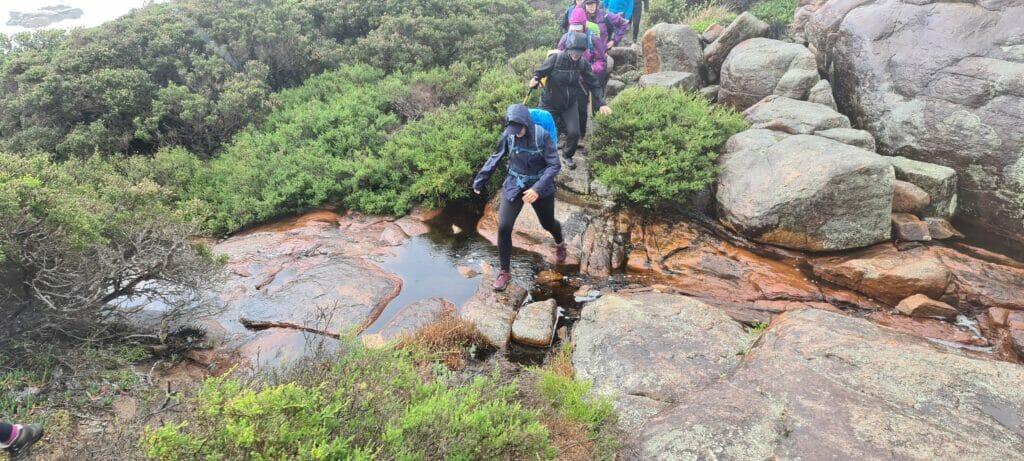 hiking in the rain 6
